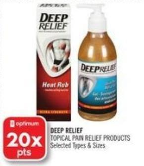 Deep Relief Topical Pain Relief Products