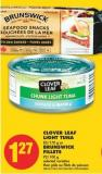 Clover Leaf Light Tuna 85/170 g or Brunswick Fillets 92/100 g