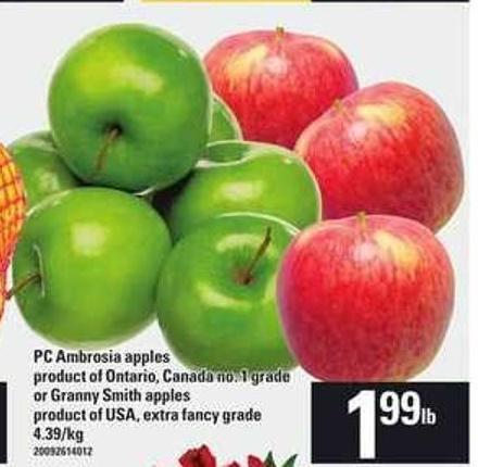 PC Ambrosia Apples or Or Granny Smith Apples