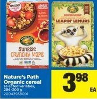 Nature's Path Organic Cereal - 284-300 G