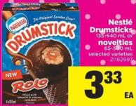 Nestlé Drumsticks 135-540 Ml Or Novelties 65-500 Ml