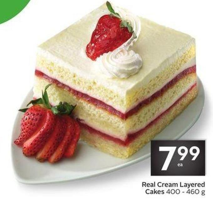 Real Cream Layered Cakes