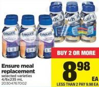 Ensure Meal Replacement - 4/6x235 mL