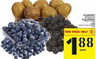 Blueberries Or Blackberries Or Kiwi
