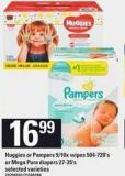 Huggies Or Pampers - 9/10x Wipes - 504-720's Or Mega Pure Diapers - 27-35's