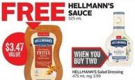Hellmann's Salad Dressing 475 ml