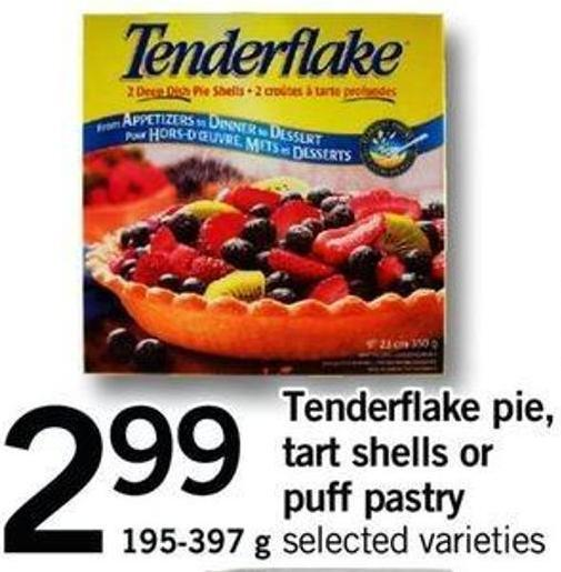 Tenderflake Pie - Tart Shells Or Puff Pastry - 195-397 G