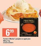Farmer's Market Pumpkin Or Apple Pies 960 G/1 Kg