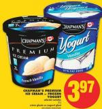 Chapman's Premium Ice Cream or Frozen Yogurt - 2 L
