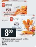 PC Chicken Burgers - Nuggets Or Strips - 800 g