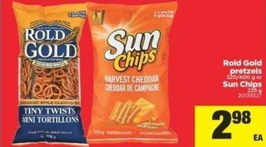 Rold Gold Pretzels - 320/400 G Or Sun Chips - 225 G