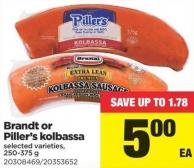 Brandt Or Piller's Kolbassa - 250-375g