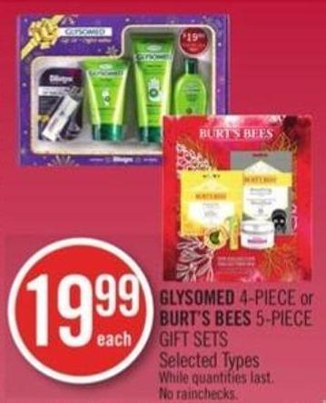 Glysomed 4-piece or Burt's Bees 5-piece Gift Sets