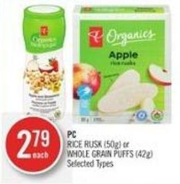 PC Rice Rusk (50g) or Whole Grain Puffs (42g)
