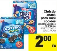 Christie Snack Pack Mini Cookies - 180/225 g