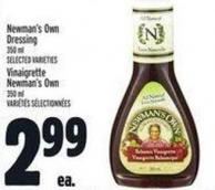 Newman's Own Dressing 350 ml