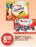 Goldfish Crackers (50's) - Kinder (55's) or Nestlé (70's) Mini Chocolate Bars