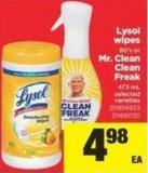 Lysol Wipes 80's Or Mr. Clean Clean Freak - 473 mL