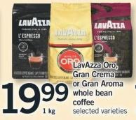 Lavazza Oro - Gran Crema Or Gran Aroma Whole Bean Coffee - 1 Kg