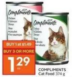 Compliments Cat Food 374 g