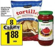 Selection Tortilla Chips Or Salsa