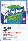 Spongetowels   Ultra Choose-a-size   -  Ultra Strong or Envirocare  6 Rolls
