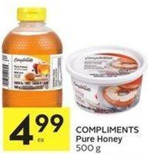 Compliments Pure Honey