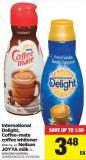 International Delight - Coffee-mate Coffee Whitener - 946 mL or Neilson Joyya Milk - 1 L