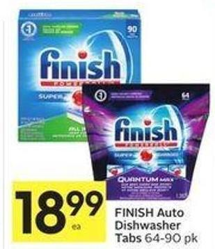 Finish Auto Dishwasher Tabs