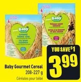 Baby Gourmet Cereal 208-227 g