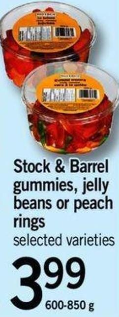 Stock & Barrel Gummies - Jelly Beans Or Peach Rings - 600- 850 G