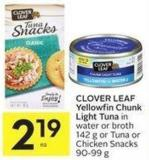 Clover Leaf Yellowfin Chunk Light Tuna