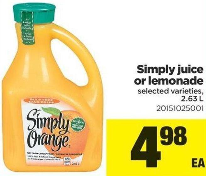 Simply Juice Or Lemonade - 2.63 L