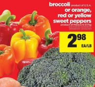Broccoli Or Orange - Red Or Yellow Sweet Peppers