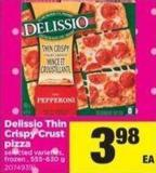 Delissio Thin Crispy Crust Pizza - 555-630 g