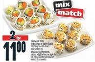 California Rolls - Vegetarian or Spicy Sushi