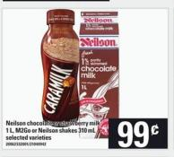 Neilson Chocolate Or Strawberry Milk 1 L - M2go Or Neilson Shakes 310 Ml