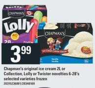 Chapman's Original Ice Cream 2l Or Collection - Lolly Or Twister Novelties 6-28's