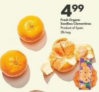 Fresh Organic  Seedless Clementines