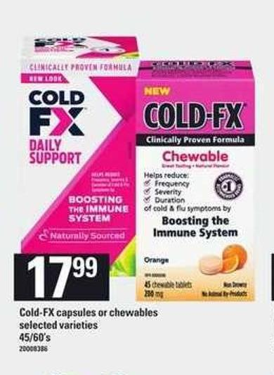 Cold-fx Capsules Or Chewables - 45/60's