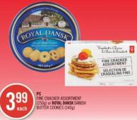 PC Fine Cracker Assortment (250g) or Royal Dansk Danish Butter Cookies (340g)