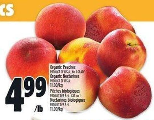 Organic Peaches Or Organic Nectarines