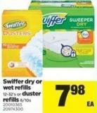 Swiffer Dry Or Wet Refills - 12-32's Or Duster Refills - 6/10s