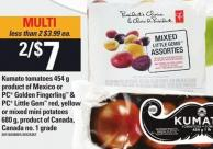Kumato Tomatoes - 454 G Product Of Mexico Or PC Golden Fingerling & PC Little Gem Red - Yellow Or Mixed Mini Potatoes - 680 G