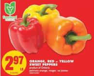 Orange - Red or Yellow Sweet Peppers