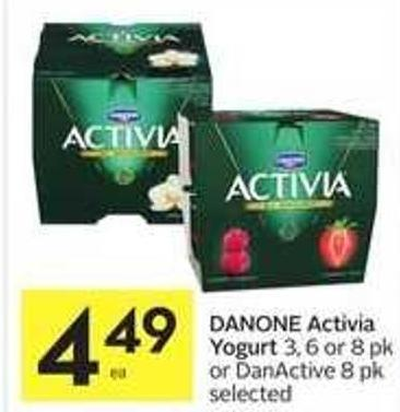 Danone Activia Yogurt or Danactive