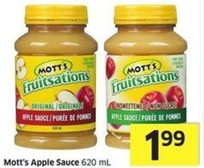 Mott's Apple Sauce 620 mL