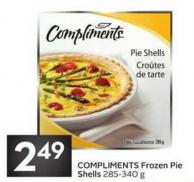Compliments Frozen Pie Shells