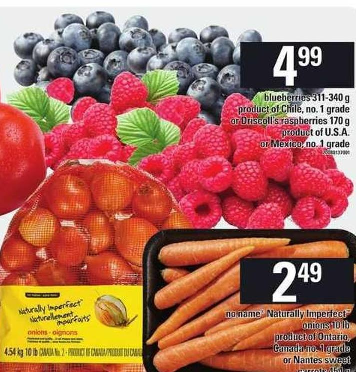 Blueberries - 311-340 G Or Driscoll's Raspberries - 170 G