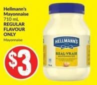 Hellmann's Mayonnaise 710 mL Regular Flavour Only